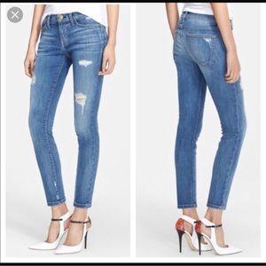 Current/Elliot Stiletto Niagra Destroy Denim Jeans